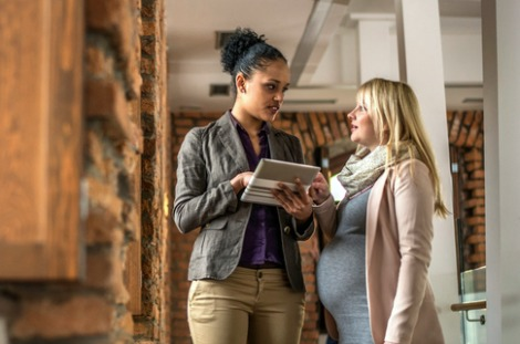 get our tips on how to survive work during your third trimester