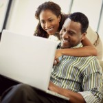 couple watching webinar